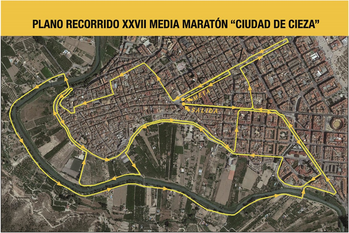 Nuevo circuito XXVII Media Maratón Ciudad de Cieza y 11 K Solidarios