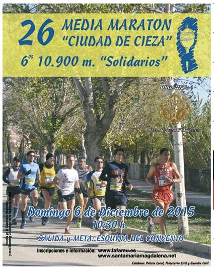 Cartel oficial de la XXVI Media Maratón y VI 10.900 Solidarios