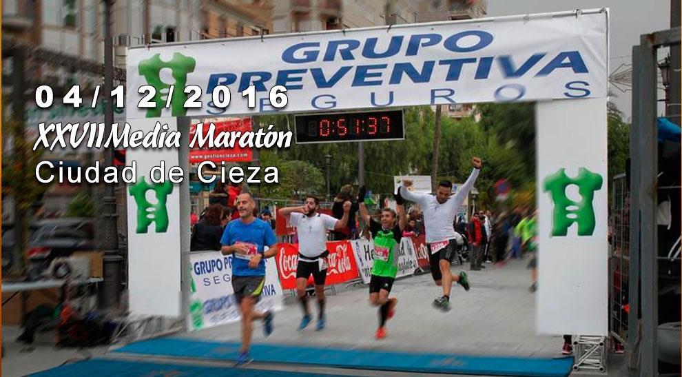 Fecha para la XXVII Media Maratón Ciudad de Cieza