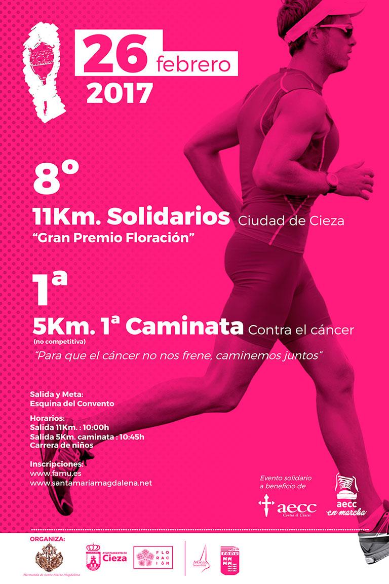 """8º 11 Km. Solidarios Ciudad de Cieza """"Gran Premio Floración"""" y 1ª Caminata contra el Cáncer"""