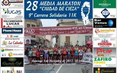 Cartel XXVIII Media Maratón Ciudad de Cieza